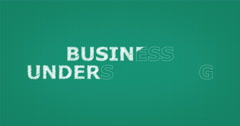 Drawing a word BUSINESS UNDERSTANDING - stock footage