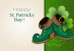 Leprechaun shoes - stock illustration