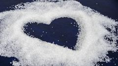 Image of the heart from the sugar particles Kuvituskuvat