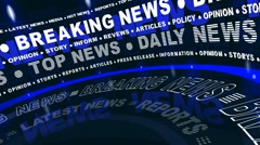 Breaking News - Rotated Words - stock footage