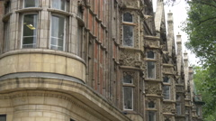 A row of old buildings in London Stock Footage