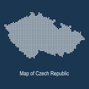 Map of czech republic Stock Illustration