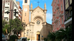 Sacred Heart of Jesus Church of pescara Stock Footage