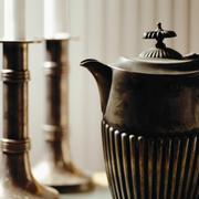 Antique teapot - stock photo