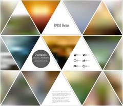 Stock Illustration of Abstract multicolored background of blurred nature landscapes, geometric vector