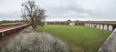 Fort Pulaski, 180 degree panorama Stock Photos