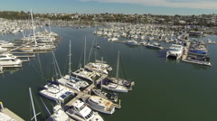 Aerial Sailboat Dock Stock Footage
