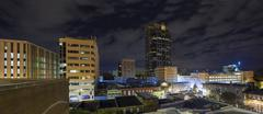 Night panorama of city of Raleigh, North Carolina Kuvituskuvat