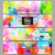 Set of modern banners. Colorful background, Holi celebration, vector - stock illustration