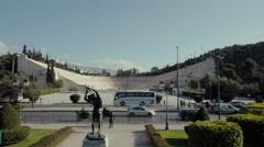 4k UHD Panathenaic stadium gimbal aerial shot Stock Footage