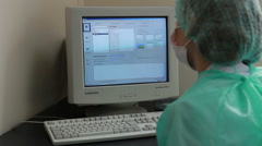 Pathomorphological and genetic laboratory: the doctor working with a samples. Stock Footage