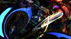 Fantastic tunnel background loop Stock Footage