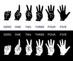 Counting hands set - stock illustration