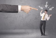 Amateur businessman under pressure Stock Photos