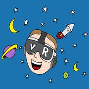 Virtual Reality Space Exploration Stock Illustration