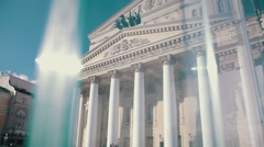 The Bolshoi theatre in Moscow. Stock Footage
