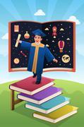 Graduation Student Stock Illustration