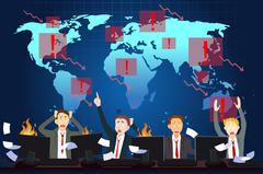 Global Economic Crisis Concept - stock illustration