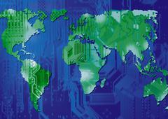 World electronics - stock illustration
