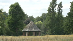 Old pavilion in the park in London Stock Footage