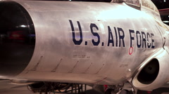 Aircraft in hanger of US Air Force Museum 4k Stock Footage