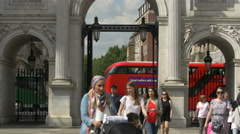 Tilt up view of the Marble Arch in London Stock Footage