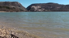 Lake Barrea, a small town of Abruzzo Stock Footage