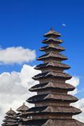 Traditional balinese pagoda Meru in Besakih temple Stock Photos