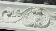 Ornament on cornice. Stock Footage