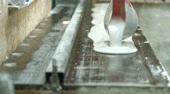 The density of gypsum material. Stock Footage