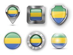 Gabon - stock illustration