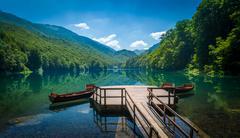 Biogradsko lake landscape, Montenegro - stock photo