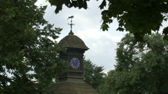Small clock tower in a park in London Stock Footage