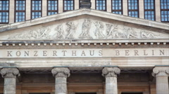 Outside sign Konzerthaus Berlin concert hall, German orchestra, Germany Stock Footage