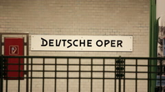 Deutsche Oper subway U-Bahn station, Berlin, Germany Stock Footage