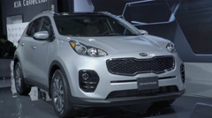 2017 KIA Sportage. Toronto International Auto Show. Stock Footage