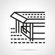 Pier black line design vector icon Stock Illustration