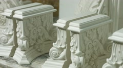 Elements of baroque architecture. Stock Footage