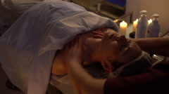 Chinese massage the neck and shoulders Stock Footage