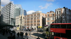 City of London, Bishopsgate and the Royal Bank of Scotland Stock Footage