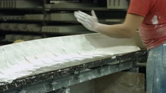 Molding in a workshop. Stock Footage