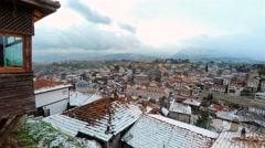 City of Safranbolu from hidirlik hill. Stock Footage