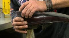 Shoe Repair Glue Heel  - stock footage