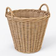 Wicker Basket Ikea Nipprig - 3D model