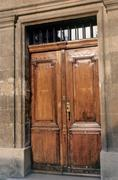 Doorway in Aix-en-Provence - stock photo