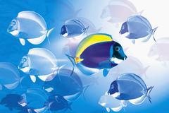Rebellious fish Stock Photos
