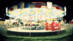 Stock Video Footage of Merry Go Round At Night