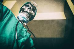 Skeleton Doctor Evil Surgeon - stock photo