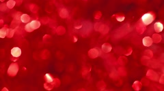 Red bokeh lights Stock Footage