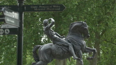The Physical Energy Statue in Kensington Gardens, London Stock Footage